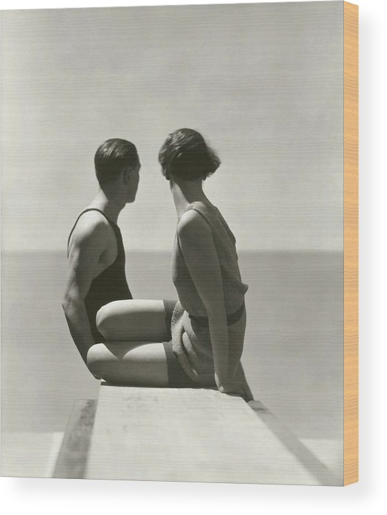 Outdoors Wood Print featuring the photograph The Divers by George Hoyningen-Huene