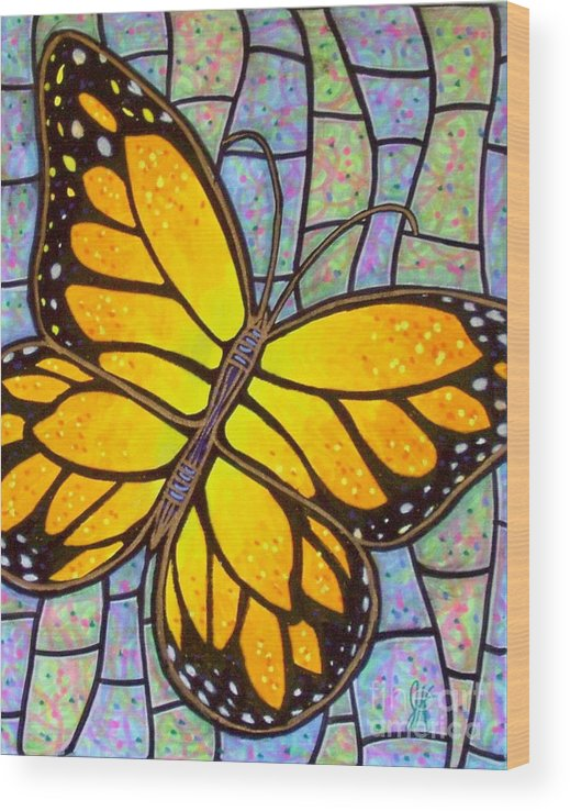 Butterflies Wood Print featuring the painting Karens Butterfly by Jim Harris