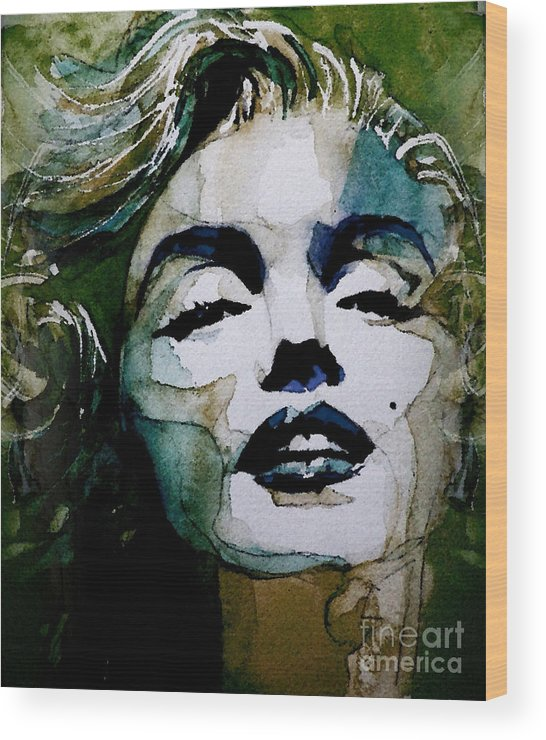 Marilyn Monroe . Legend Wood Print featuring the painting Marilyn no10 by Paul Lovering