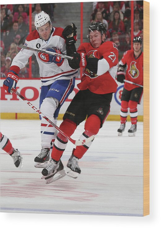 Playoffs Wood Print featuring the photograph Montreal Canadiens V Ottawa Senators - by Andre Ringuette