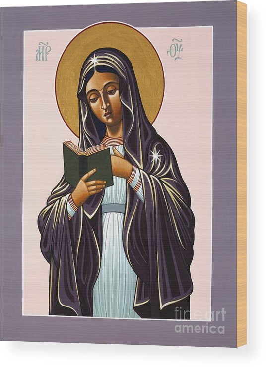 Mother Of The Incarnate Word Wood Print featuring the painting Mother of the Incarnate Word 071 by William Hart McNichols