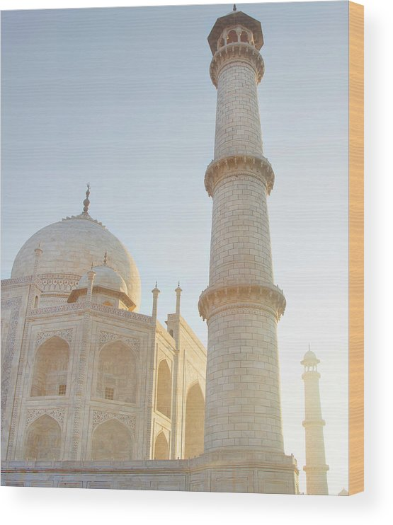 Arch Wood Print featuring the photograph Partial View Taj Mahal by Grant Faint