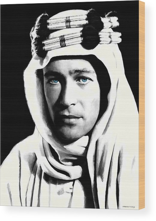 Peter O'toole Wood Print featuring the digital art Peter O'Toole Portrait by Gabriel T Toro