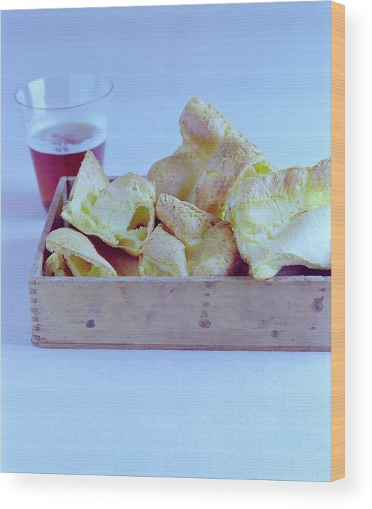 Cooking Wood Print featuring the photograph Pork Rinds With A Pint by Romulo Yanes