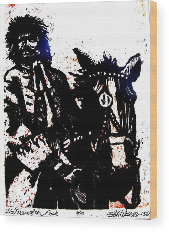 English Highwayman Wood Print featuring the mixed media Rogue of the Road by Seth Weaver