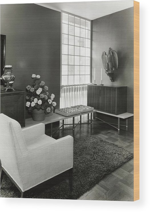 Interior Design Wood Print featuring the photograph Room Designed By John And Earline Brice by Tom Leonard