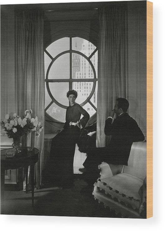 Accessories Wood Print featuring the photograph Rose Hobart Standing By A Window by Edward Steichen