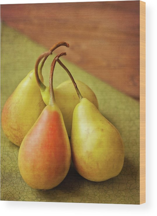 Wood Wood Print featuring the photograph Still Life Of Pears by Carol Yepes