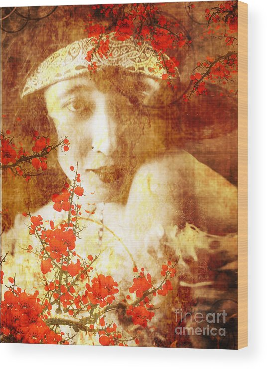 Nostalgic Seduction Wood Print featuring the photograph Winsome Women by Chris Andruskiewicz