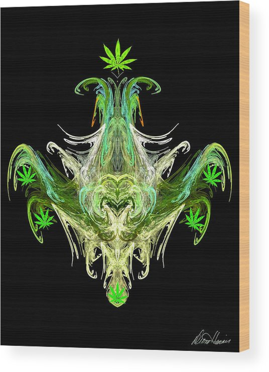 Spirit Wood Print featuring the digital art Spirit Of The Leaf by Diana Haronis