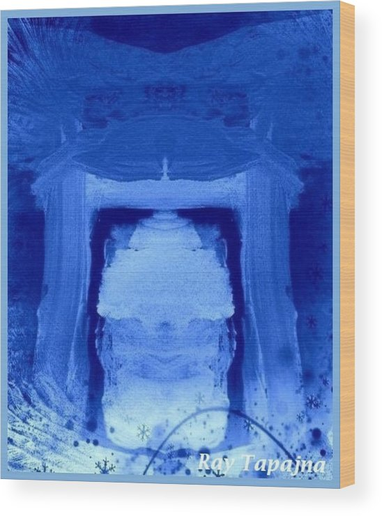Yesterday Dreams Wood Print featuring the mixed media Tabernacle of Hope by Ray Tapajna