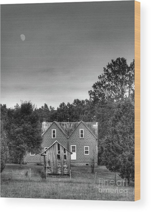 Moon Wood Print featuring the photograph Day Moon by Pete Hellmann