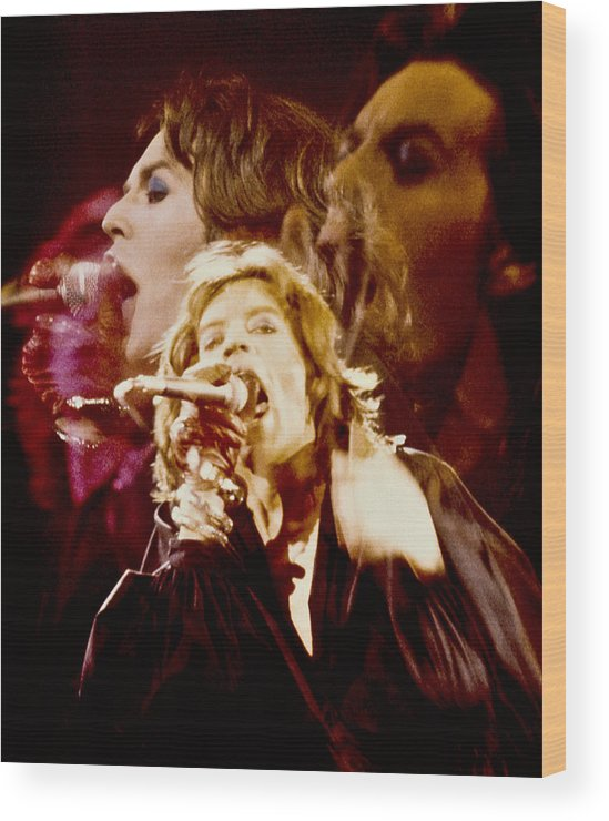Live Wood Print featuring the photograph Mick Trio by Sandy Ostroff