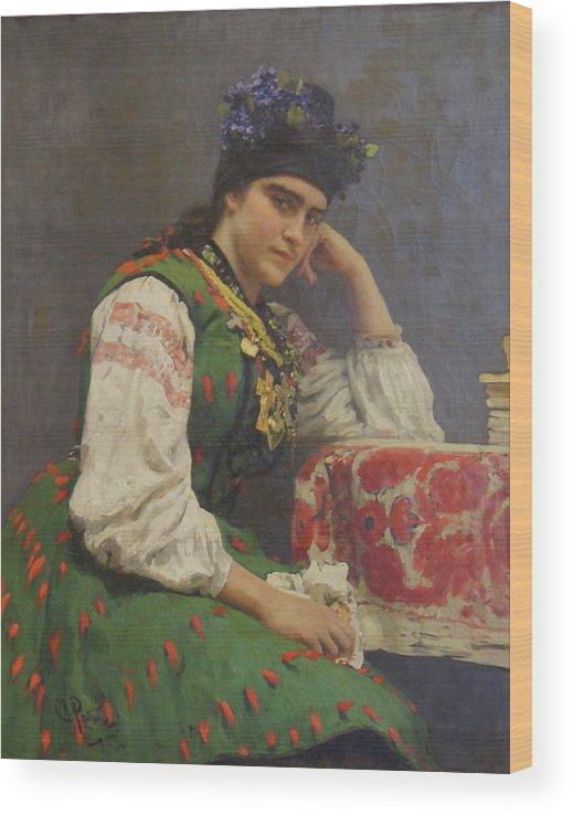 Ilya Repin Wood Print featuring the painting Portrait Of Sophia Dragomirova by Ilya Repin