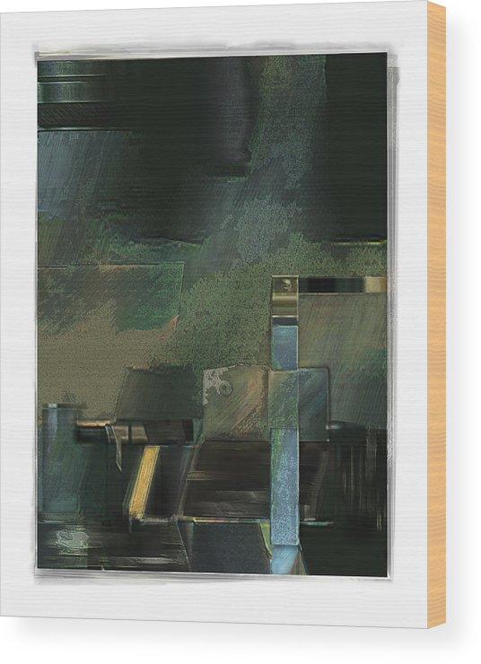 Still Life Wood Print featuring the digital art Pump by Nuff