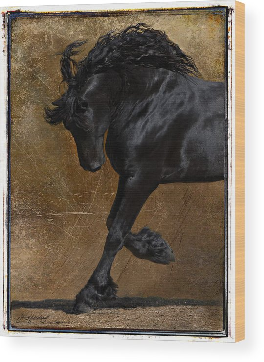 Horse Wood Print featuring the photograph A Regal Bow by Jean Hildebrant