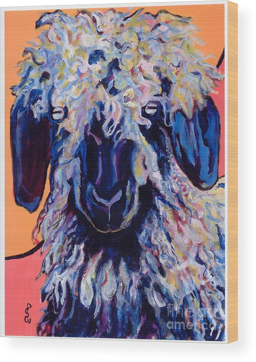 Goat Print Wood Print featuring the painting Adelita  by Pat Saunders-White
