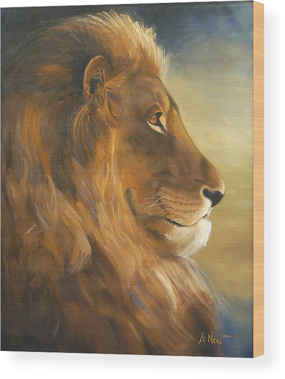 Painting Wood Print featuring the painting African King by Greg Neal