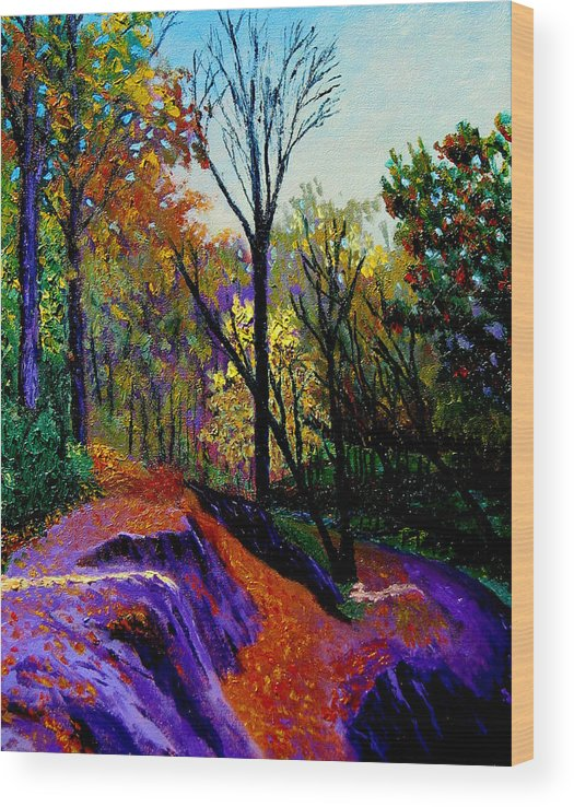 Twilight Wood Print featuring the painting Ap 10 26 by Stan Hamilton