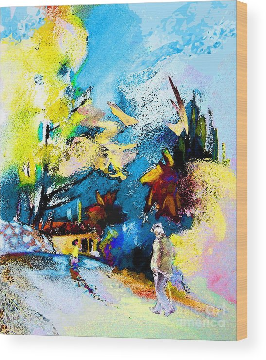 Pastel Painting Wood Print featuring the painting Back Home by Miki De Goodaboom
