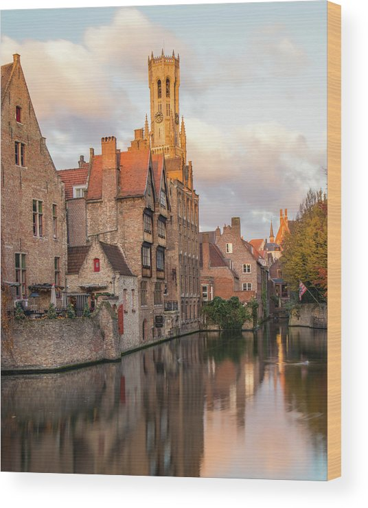 Rozenhoedkaai Wood Print featuring the photograph Classic Bruges by Dalibor Hanzal