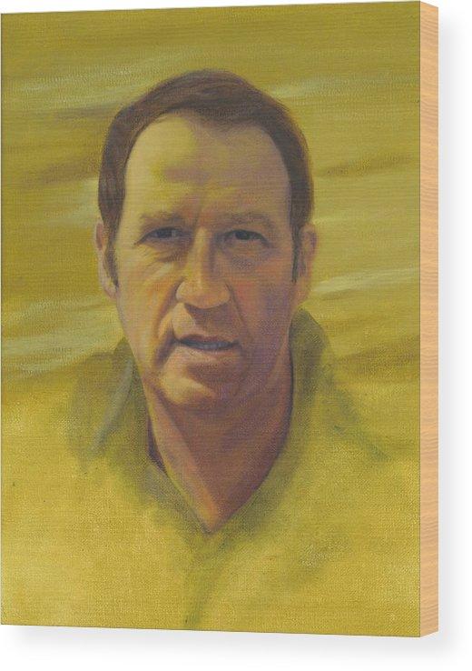 Portrait Wood Print featuring the painting Doug by Laurel Ellis