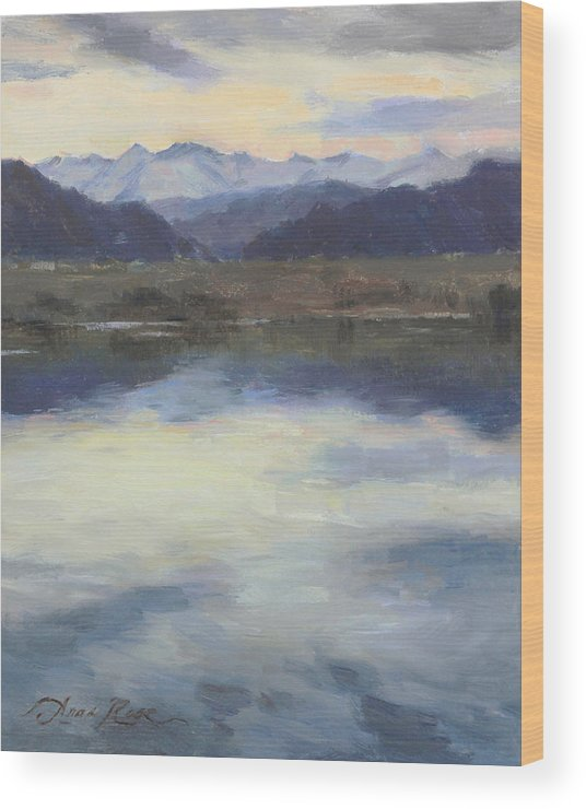 Colorado Wood Print featuring the painting Edge of Spring by Anna Bain
