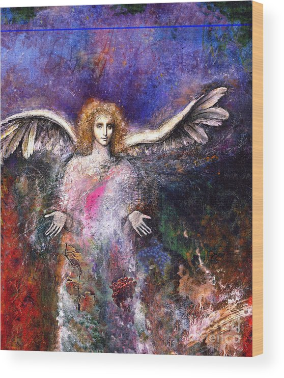 Angel Wood Print featuring the painting Emergence by Marne Adler
