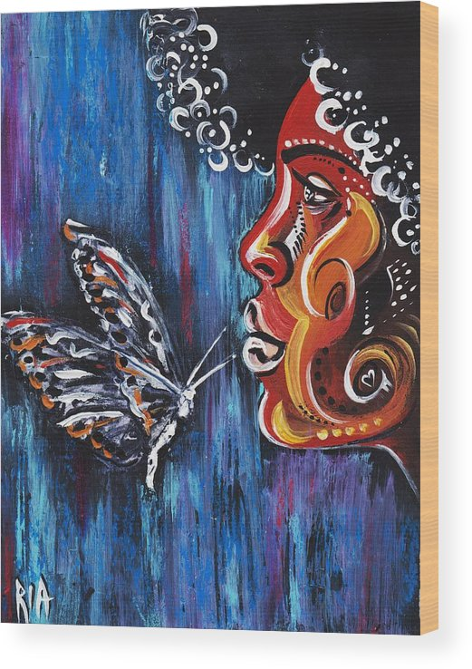 Butterfly Wood Print featuring the photograph Fascination by Artist RiA