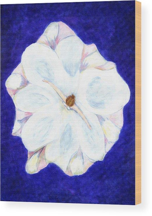 Abstract Wood Print featuring the painting Flower Princess - www.jennifer-d-art.com by Jennifer Skalecke
