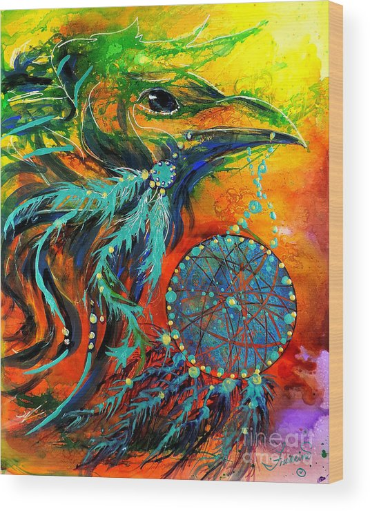 Mythical Wood Print featuring the painting Hope Rising by Francine Dufour Jones
