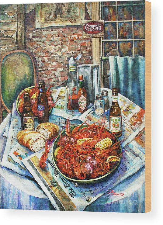 New Orleans Art Wood Print featuring the painting Louisiana Saturday Night by Dianne Parks