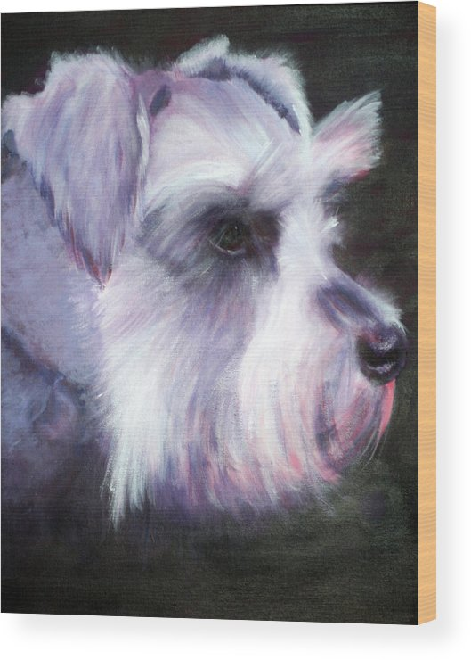 Dog Wood Print featuring the painting Maizee by Fiona Jack