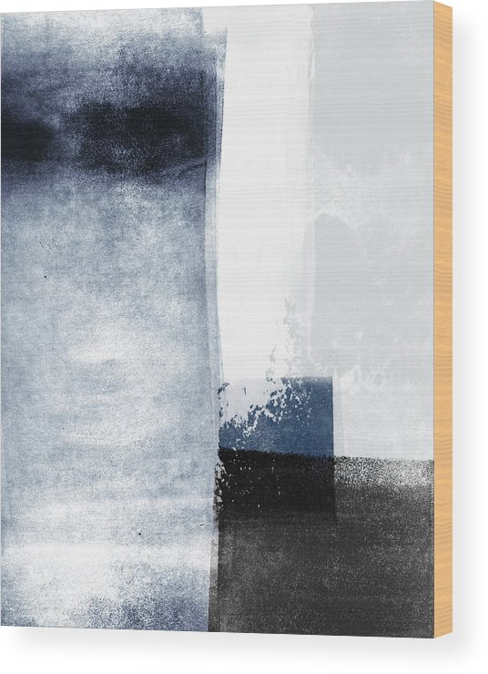 Blue Wood Print featuring the mixed media Mestro 3- Abstract Art by Linda Woods by Linda Woods