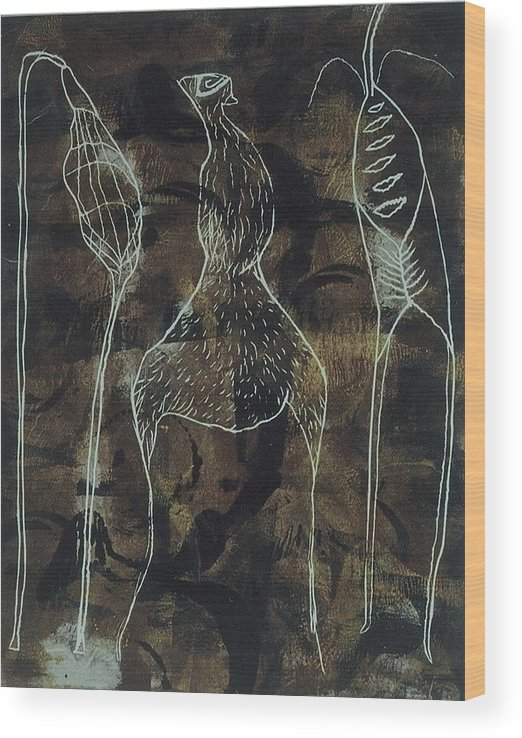 Organic Wood Print featuring the print Mutation 3 by Angela Dickerson