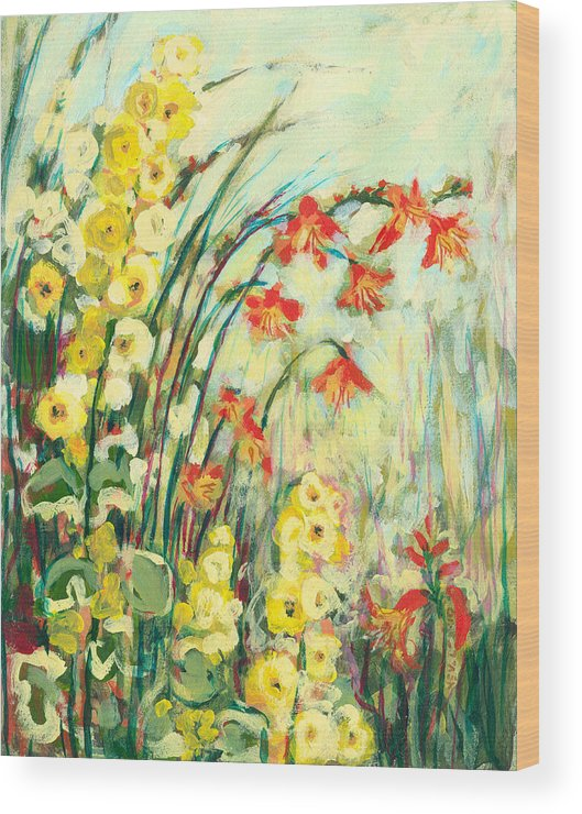 Impressionist Wood Print featuring the painting My Secret Garden by Jennifer Lommers