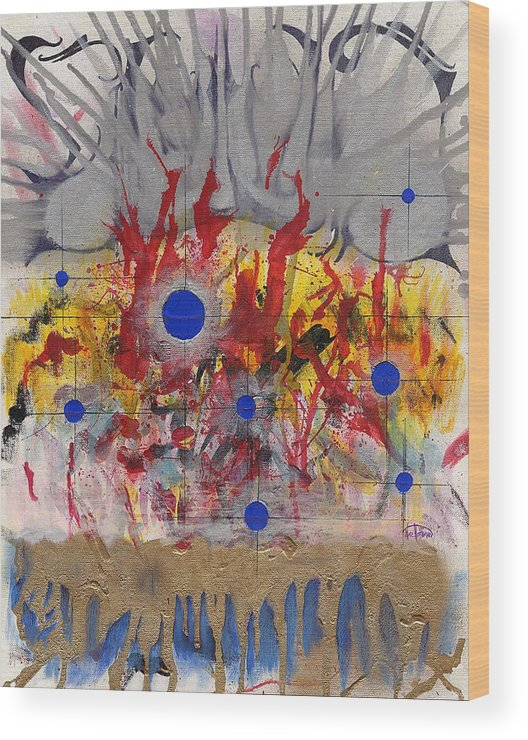 Chaos Wood Print featuring the painting Order In Chaos by Nathaniel Hoffman