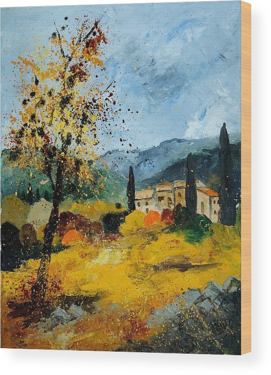 Provence Wood Print featuring the painting Provence 45 by Pol Ledent