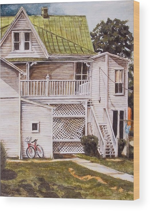 Appalachia Wood Print featuring the painting Red Hope by Thomas Akers