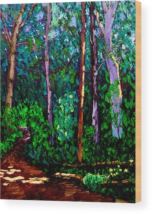 Plein Air Wood Print featuring the painting Sewp 6 15 05 by Stan Hamilton