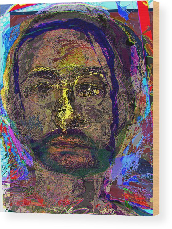 Portrait Wood Print featuring the painting Sp 260109 by Noredin Morgan