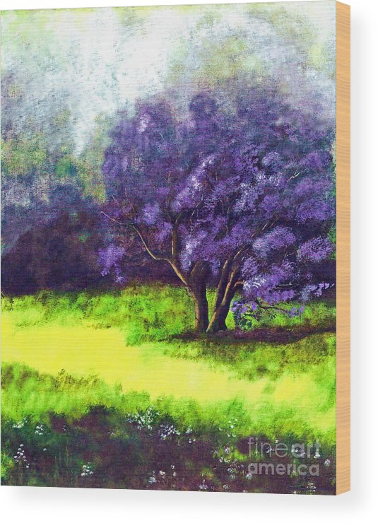 Fine Art Print Wood Print featuring the painting Summer Mist by Patricia Griffin Brett