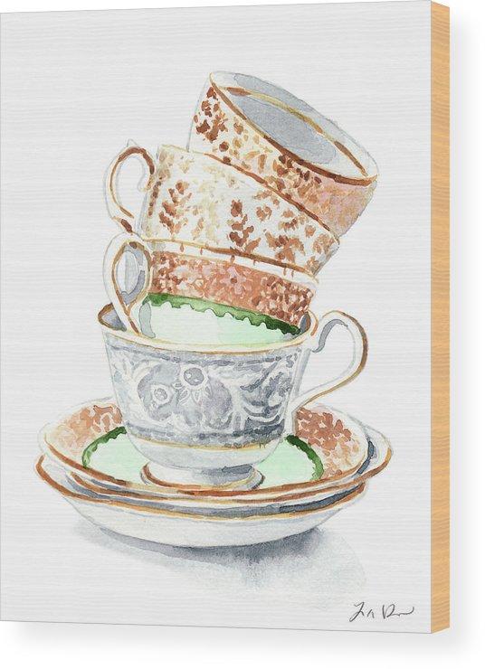Tea Time Watercolor Print Kitchen Print Tea Party Decor Alice in Wonderland Art