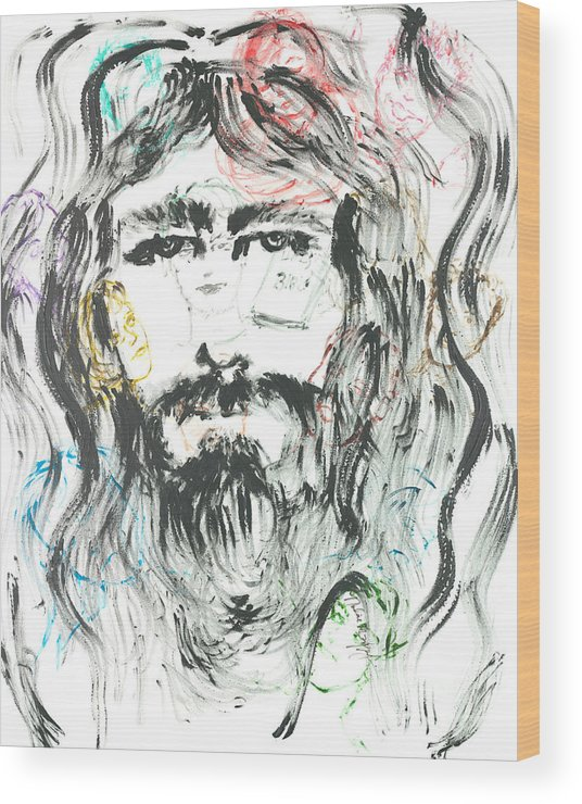 Jesus Wood Print featuring the painting The Emotions of Jesus by Nadine Rippelmeyer