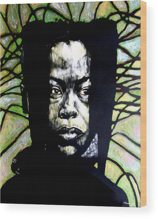 Portraits Wood Print featuring the mixed media The Promise of Spring by Chester Elmore