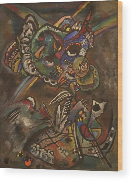 Wassily Kandinsky Wood Print featuring the painting Twilight by Wassily Kandinsky