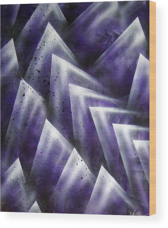 Organic Wood Print featuring the painting Upward by Leigh Odom