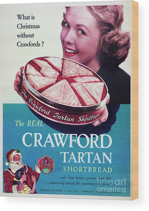 Shortbread Wood Print featuring the photograph Crawford Tartan Shortbread by Picture Post