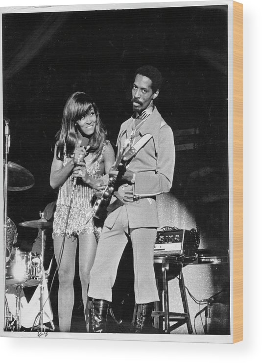 Music Wood Print featuring the photograph Ike & Tina At The Greek by Michael Ochs Archives