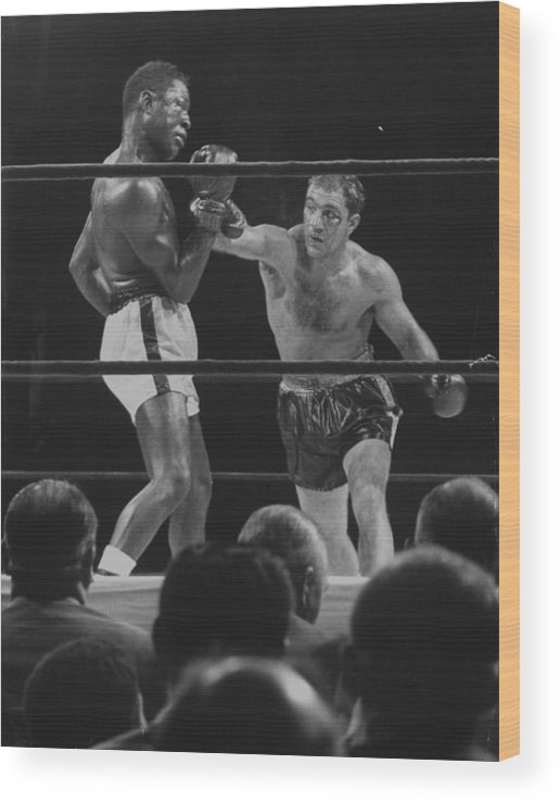 Timeincown Wood Print featuring the photograph Rocky Marcianoezzard Charles by Ralph Morse